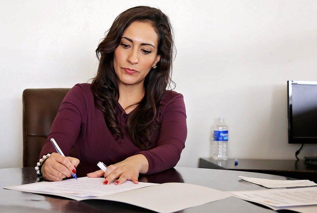 Assistentie van secretaresse